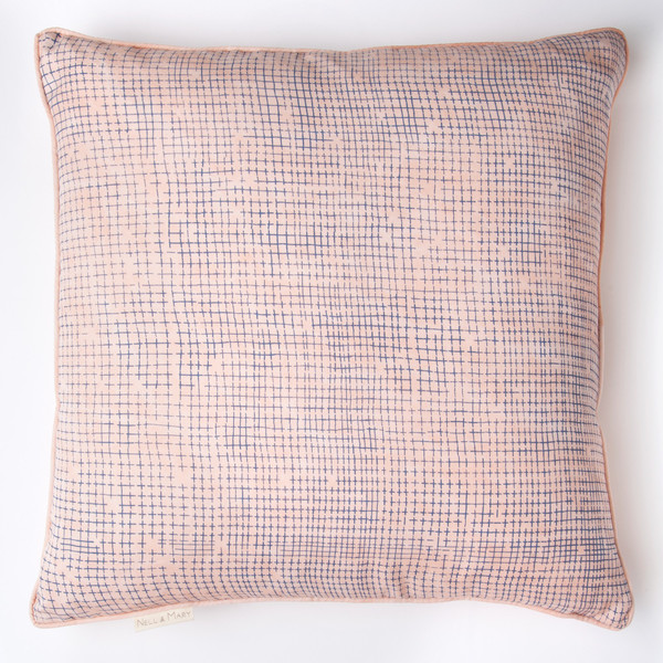 Cross Stitch Pillow by Nell & Mary