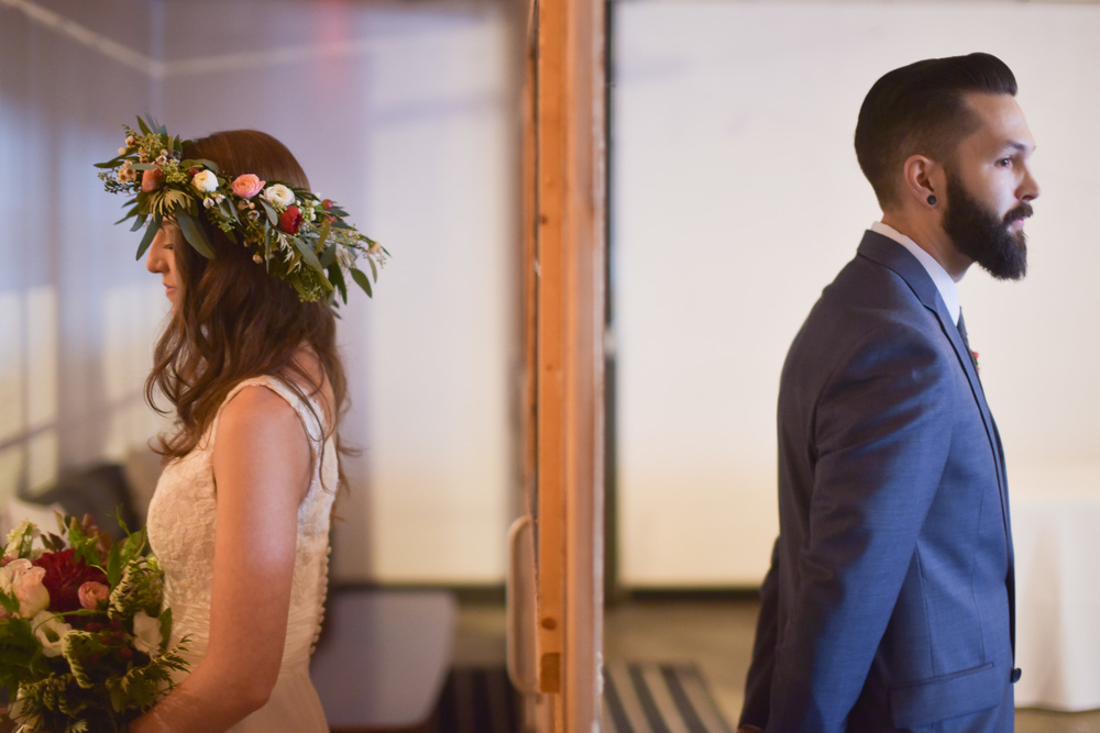 Planner: Bridal Bliss | Photography: Newspin Photography | Rentals: Commonwealth + Something Borrowed| Catering: Kalua Brothers | Dessert: Blue Star Donuts | Floral: Carrie Newson | DJ: Chad Dowling Productions