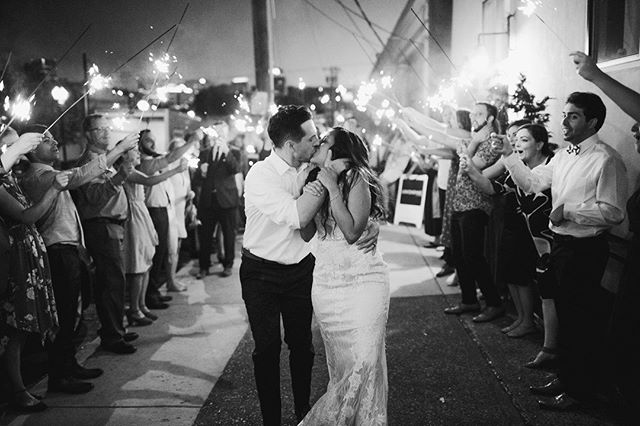 When your wedding is epic right down to the exit! No better way to send lovers off into the night than with a little bit of sparkle✨  #pdxwedding #portlandeventspace #sparklersendoff #unionpine 📷: @catalinajean