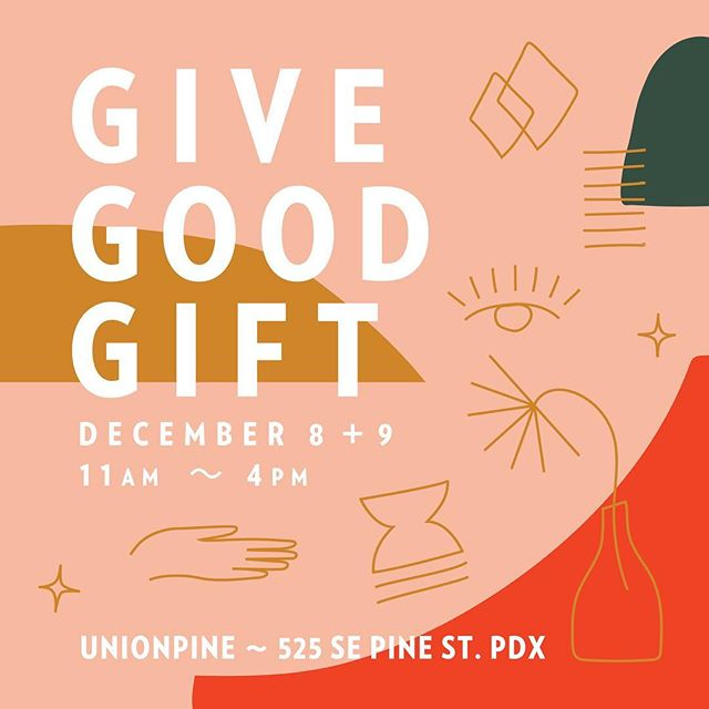 It's that time again! Join us and over 30 of Portland's favorite vendors for a weekend of fun and shopping at our 7th annual Give Good Gift holiday pop up sale!