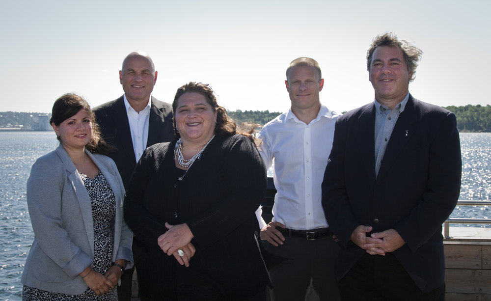 Photo: The founding Board members in 2015 with Karoline Andaur (WWF), Sigve Nordrum (Aker BioMarine), Andrea Kavanagh (Antarctic and Southern Ocean Coalition), Matts Johansen (Aker BioMarine) and Mark Epstein (Antarctic and Southern Ocean Coalition).