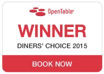 Open Table - Winner Diner's Choice 2015