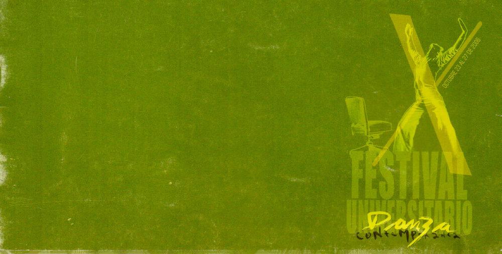 X FESTIVAL DE DANZA CONTEMPORANEA - FOTO AFICHE - U. JORGE TADEO LOZANO - 2006
