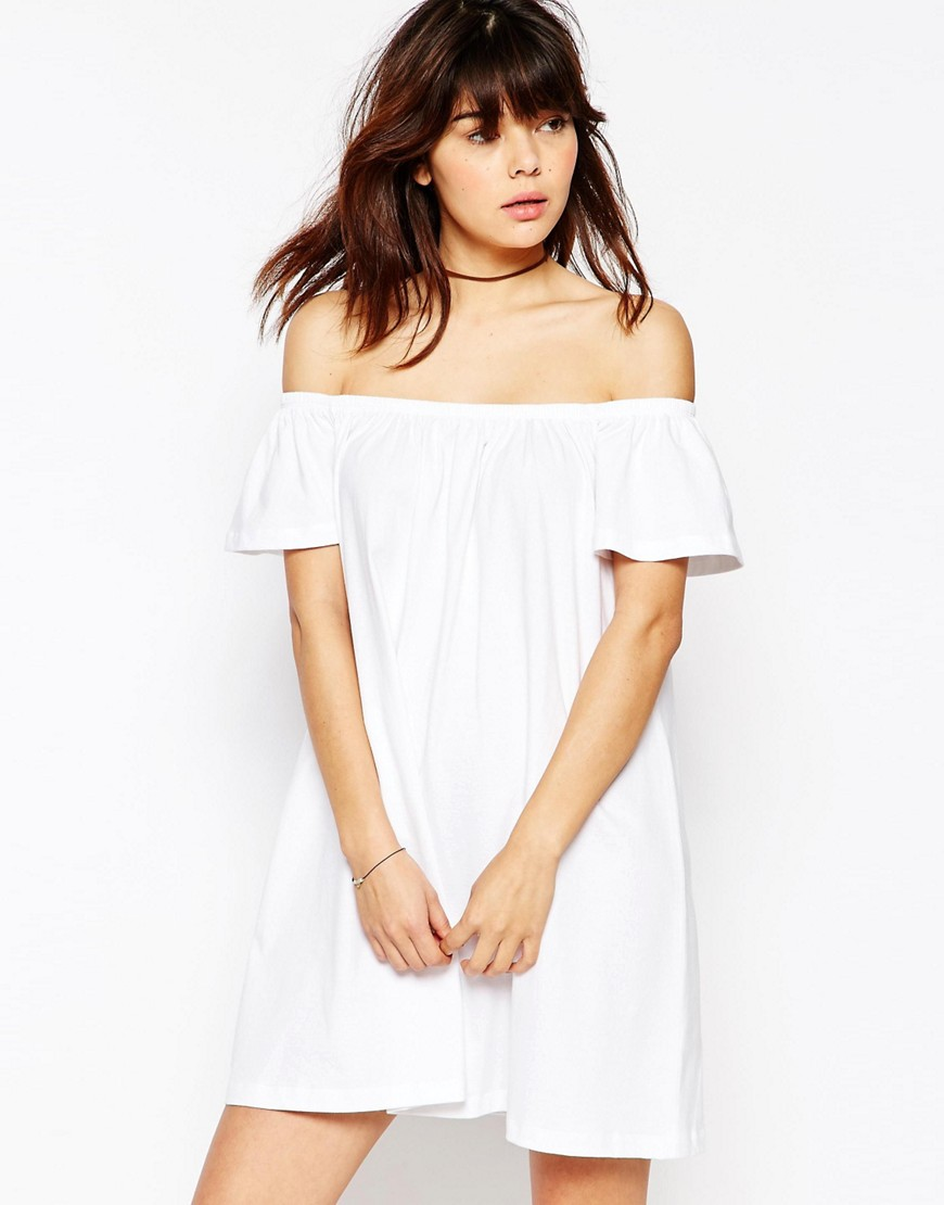 ASOS Off The Shoulder Mini Dress-  Asos  ($25)