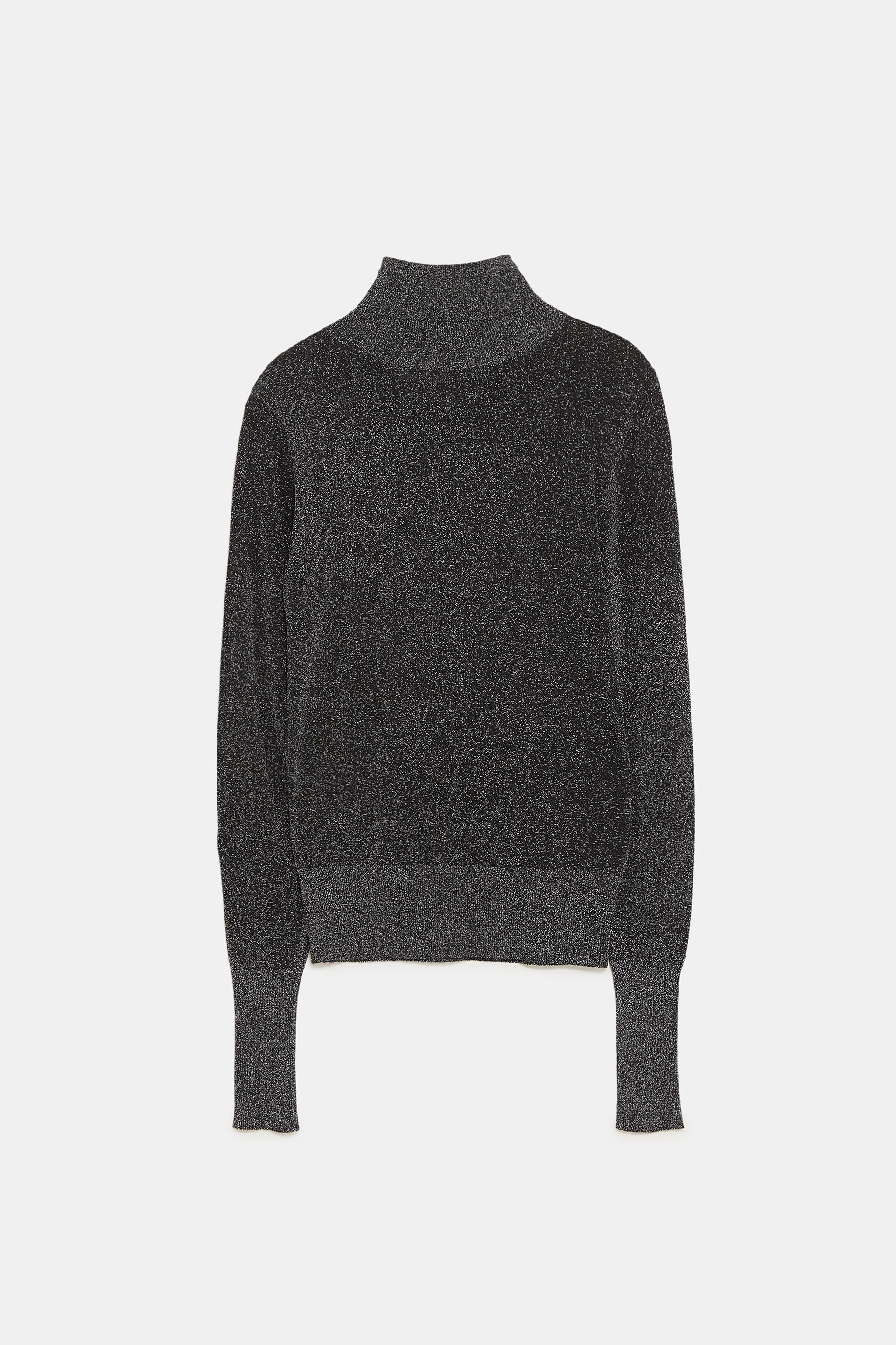 edf44816b Zara Metallic Turtleneck