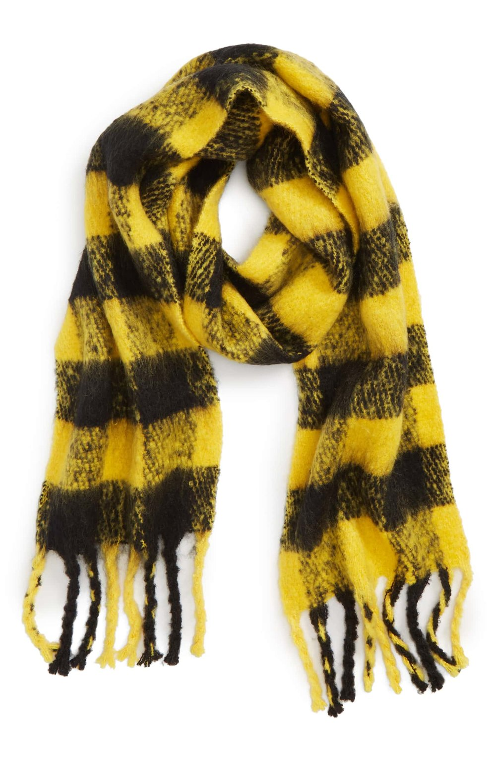 Topshop Heavy Check Scarf