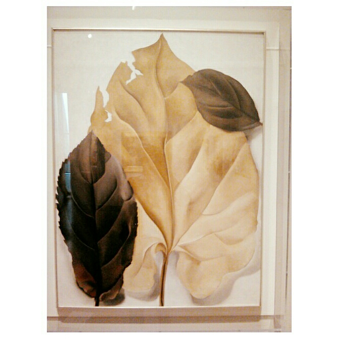 Georgia O'Keefe Brown and Tan Leaves,1928,oil on canvas