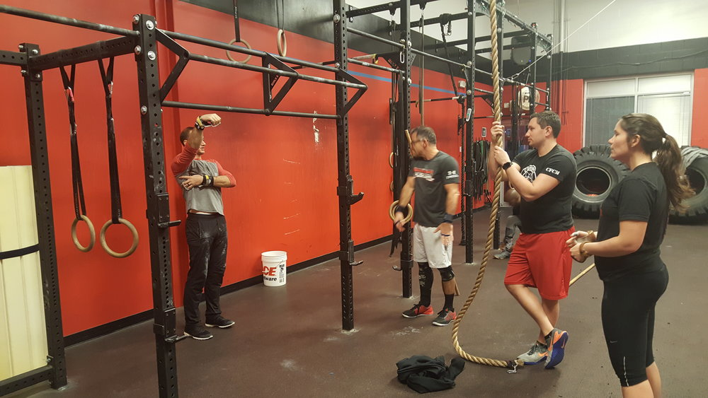 CFCM Head Coach Mike breaks down the basics of the pull up and the kipping swing.