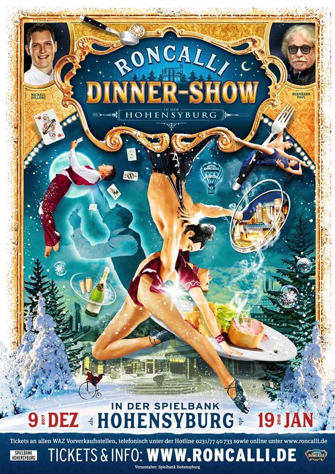"Past Productions: - -15 Year Jubilee Roncalli Weichnachtscircus Tempodrom, Berlin, Germany (December - January 2018 - 19)- 4th and 6th International Varieté Festival, Sennfeld, Germany (May 2012, May 2018)Circus Roncalli Dinnershow, Hohensyburg, Germany (December - January 2017 - 18)Circus Roncalli Cruise on MS Europa (June - August 2017)The Seattle Moisture Variety Festival (March 2010, 2011, 2013, 2014, 2016, 2017)Knie's Salto Natale, ""Luna,"" Zurich, Switzerland (November - January 2016 - 17)Roncalli's Apollo Varieté, ""Havana, Cuba Libré,"" Dusseldorf, Germany (April - May 2016)CabaRAE Variete, Honolulu, Hawaii, USA (May - October 2015)Circus Roncalli, ""Salto Vitale,"" Herne, Germany (March 2015)Place au Spectacle, Geneva, Switzerland (February 2015)Teatro Zinzanni, ""Hacienda Holiday,"" Seattle, USA (September 2014 - February 2015)Angelis Productions, ""SolAria"" at Jupiter's Casino, Gold Coast, Australia (June - July 2014)Roncalli's Panem and Circense, ""Ça C'est Paris,"" Essen, Germany (Nov. - Jan. 2013)Roncalli's Apollo Varieté 100 program ""Gaudi in Barcelona"" Dusseldorf, Germany (Sept.-Nov. 2013)Krystallpalast Varieté, ""Summer in the City,"" Leipzig, Germany (July - August 2013)Circus Roncalli Gala, Swisslife/AWD, Dortmund & Hanover, Germany (June 2013)Le Plus Grand Cabaret Du Monde, Paris, France (May 2013)Tigerpalast Varieté, Frankfurt, Germany ((March - May 2012, August - February 2012-13)Flic Flac Zirkus, Dortmund, Germany (December - January 2011)The Swiss Christmas Show, Zurich, Switzerland (November - January 2010-11)"