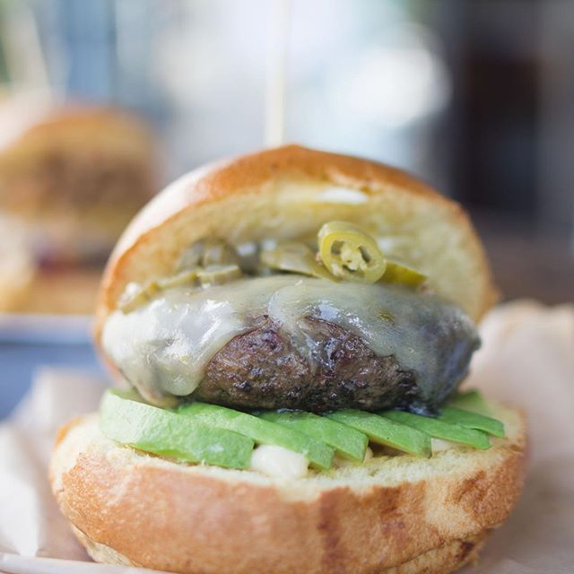 It's called the fire burger for a reason; it's nice and spicy with a touch of avocado to cool it down!