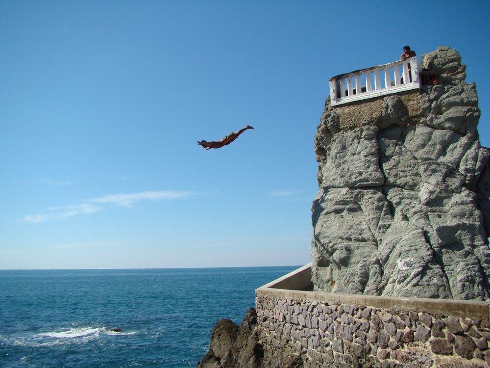 cliff diver's leap