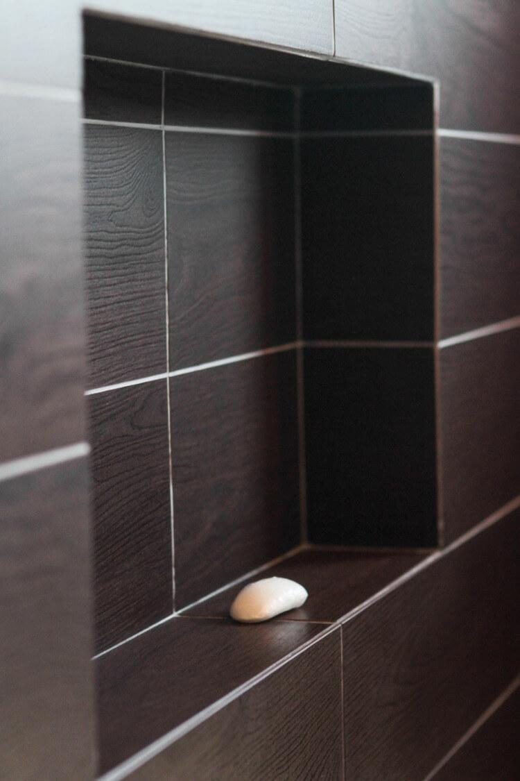 bathroom tiles brown