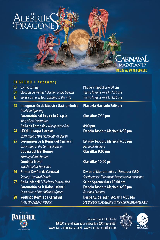 carnival mazatlan calendar 2017