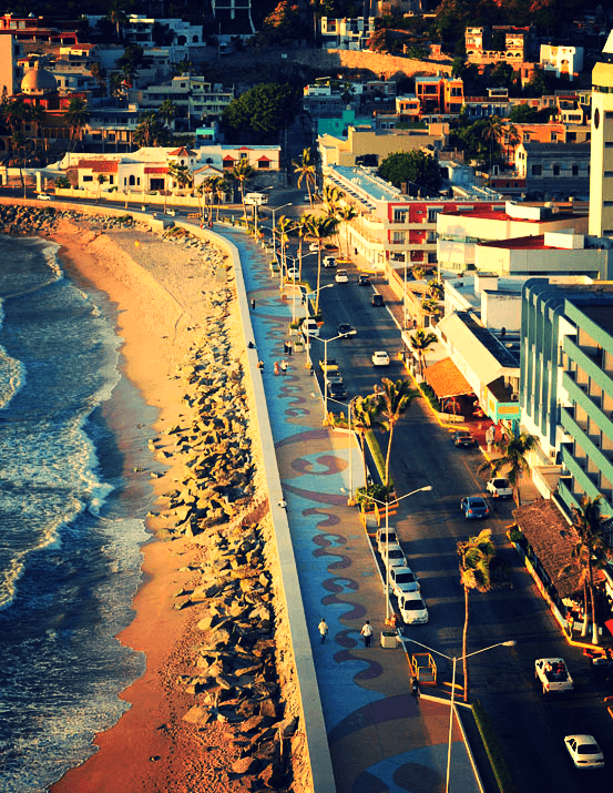 mazatlan boardwalk