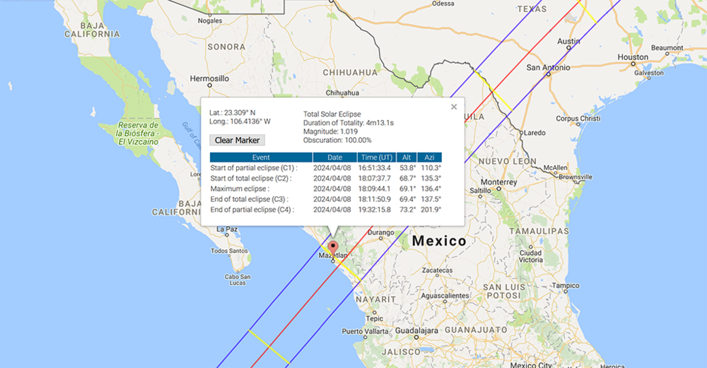 Where Is Mazatlan In Mexico Map.A Total Solar Eclipse Will Make It S Way To Mazatlan Mexico In 2024