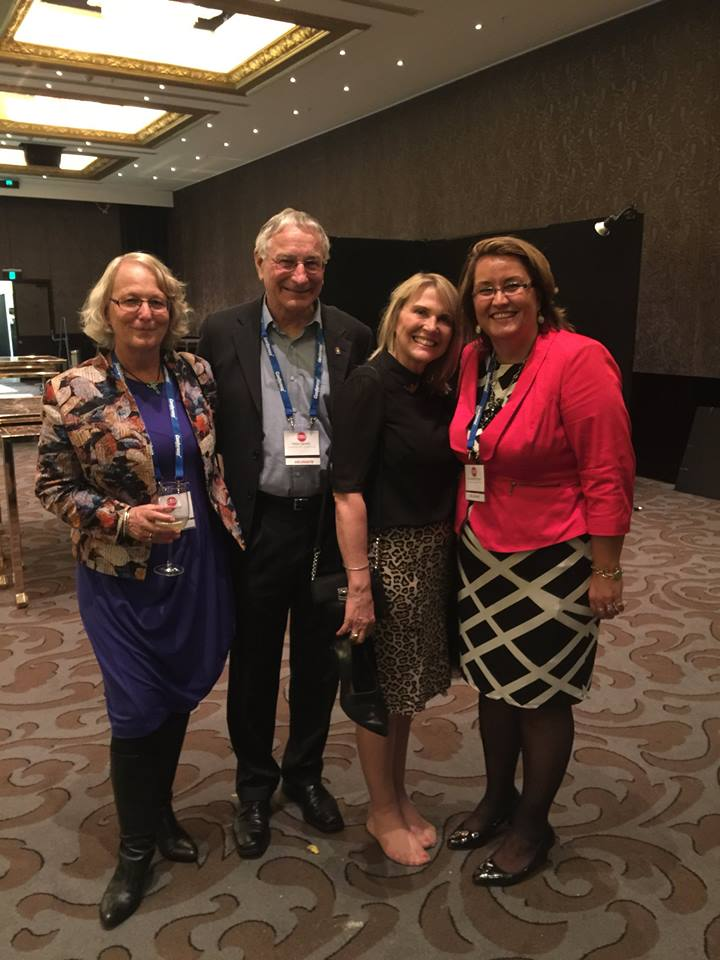 Jo Brosnahan, LNZ Founder;     Peter Garnett, LNZ Chair; Molly Bedingfield, Founder,    Global Angels, Keynote speaker at Summit; Sina Wendt-Moore, LNZ CEO
