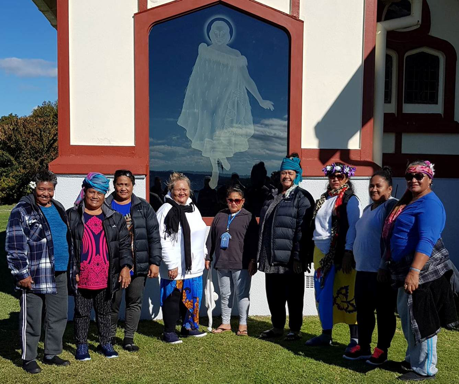 This is me, with nine of my family members from Iva, Savai'i whom I recently took on a road trip to Rotorua. I organised a Marae overnight stay and a free tour of Rotorua with Tihini Grant, who told the stories of the land. Like most islanders, my family members thought this country was owned by the Palagi people, when they were told the stories they were overwhelmed with grief and sadness, they reflected in the evening, looking at each carving retelling each story.