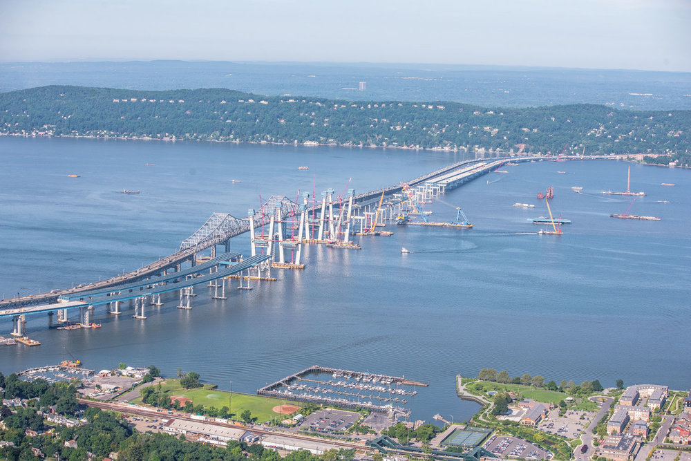 Tappan Zee Bridge construction