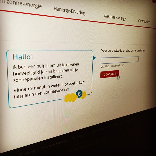 Launched our new Solar Portal for Hanergy in the Netherlands ...