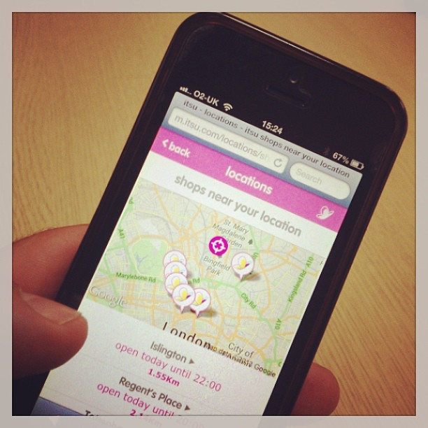 Our lovely new Itsu mobile website!  http://www.itsu.com