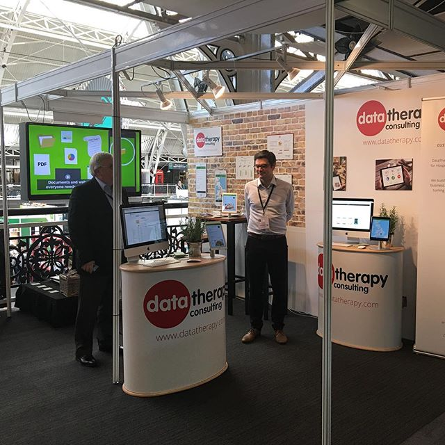 DataTherapy's stand at the Lunch Show last week. A great two days and super to speak to everyone who visited the stand!
