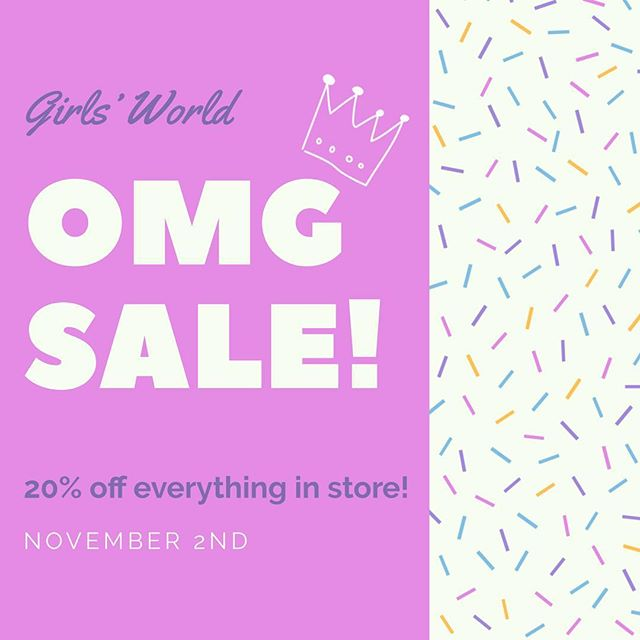 IT'S SALE SEASON! & you're invited! Everything in the store starting today until November 12th is 20% off!! PLUS you get a FREE GIFT with purchase after spending $50! Come shop our pre-holiday sale to receive discounts up to 70% off! See you soon 💕