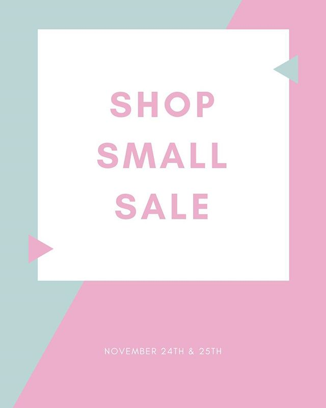 Shop Small Saturday AND Sunday is here! Enjoy an additional 30% off the entire store today and 25% off tomorrow! See you this weekend at Girls' World!