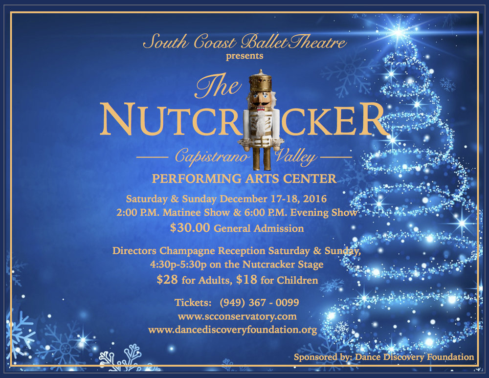 Please Join DDF in this Annual Holiday Tradition and Experience the Magic of the Nutcracker! The performance combined with the Directors Reception will be an unforgettable experience. Meeting the talented Artistic Directors with an opportunity to see the sets, costumes and characters up close. Tickets for the production are assigned and reception tickets are limited so get yours today!