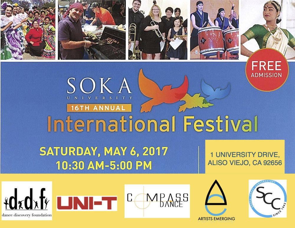 Come out and support DDF and your favorite dance companies. This is a fun filled event with over 900 performances and 200 vendors. Free admission to the festival and only $10 to park. With great food, entertainment and fun activities for the kids, it is an event not to be missed. International dress is encouraged but not mandatory.