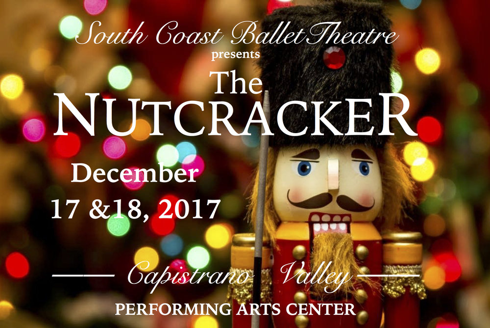 The South Coast Ballet Theatre presents The Nutcracker. Sunday & Monday December 17-18, 2017.1:00 P.M. Matinee Show & 6:30 P.M. Evening Show.Don't miss this beautiful holiday tradition.Sponsored by Dance Discovery Foundation Tickets:$30.00