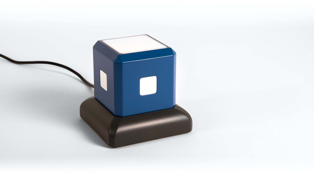 THe CUbe in its inductive charging dock