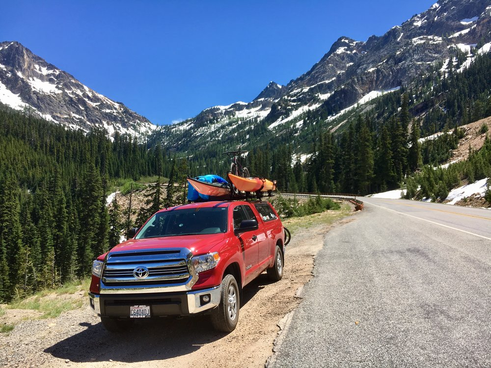 Adventure rig on the backside of Washington Pass.