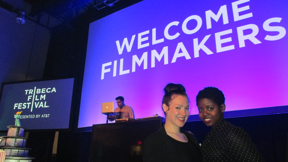 You're So Talented producer Samantha Lee and creator Sam Bailey at the 2015 Tribeca Film Festival Filmmaker Welcome Party