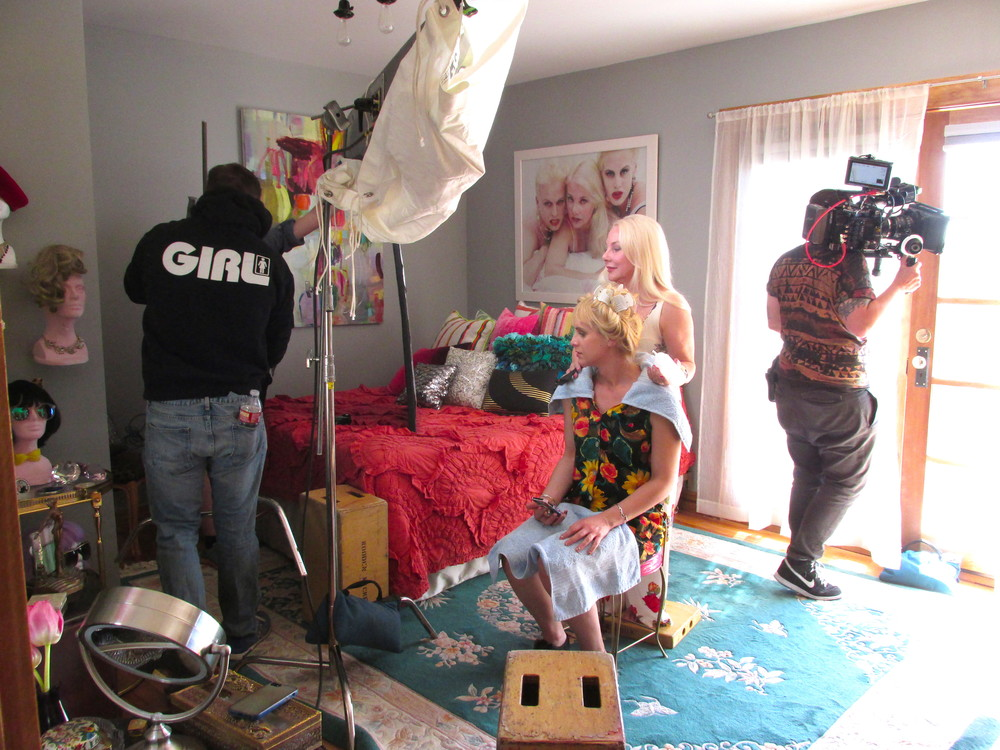 Behind-the-scenes shot of Zackary Drucker and Penny Sori's pilot for Open TV Presents: Southern for Pussy, which has screened in galleries in New York (Cooper Gallery) and Chicago (Glass Curtain).
