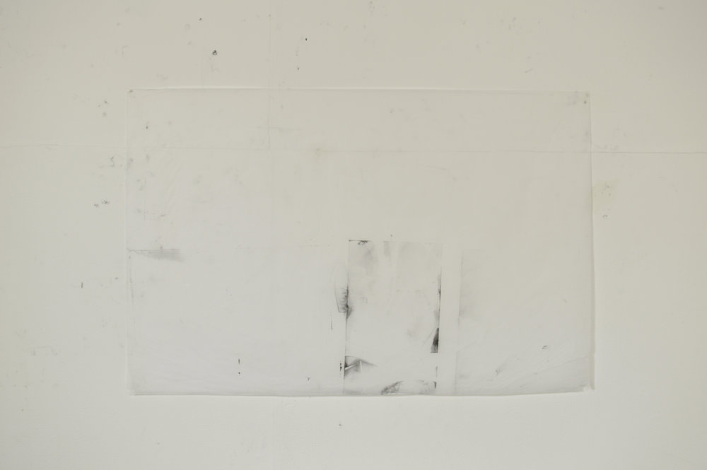 Tissue paper, pigment, copperplate oil, white spirit  75cm x 49cm