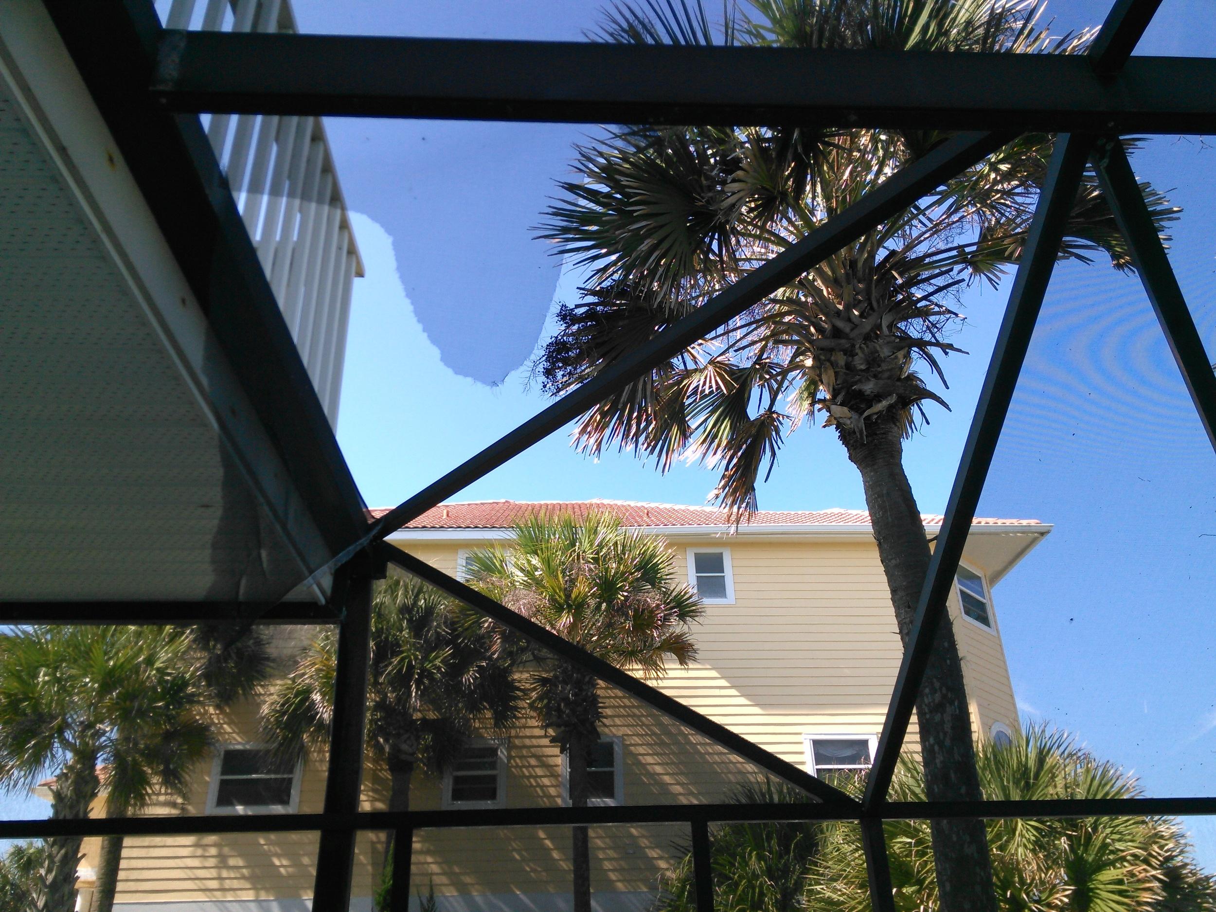 pool and patio enclosure screen