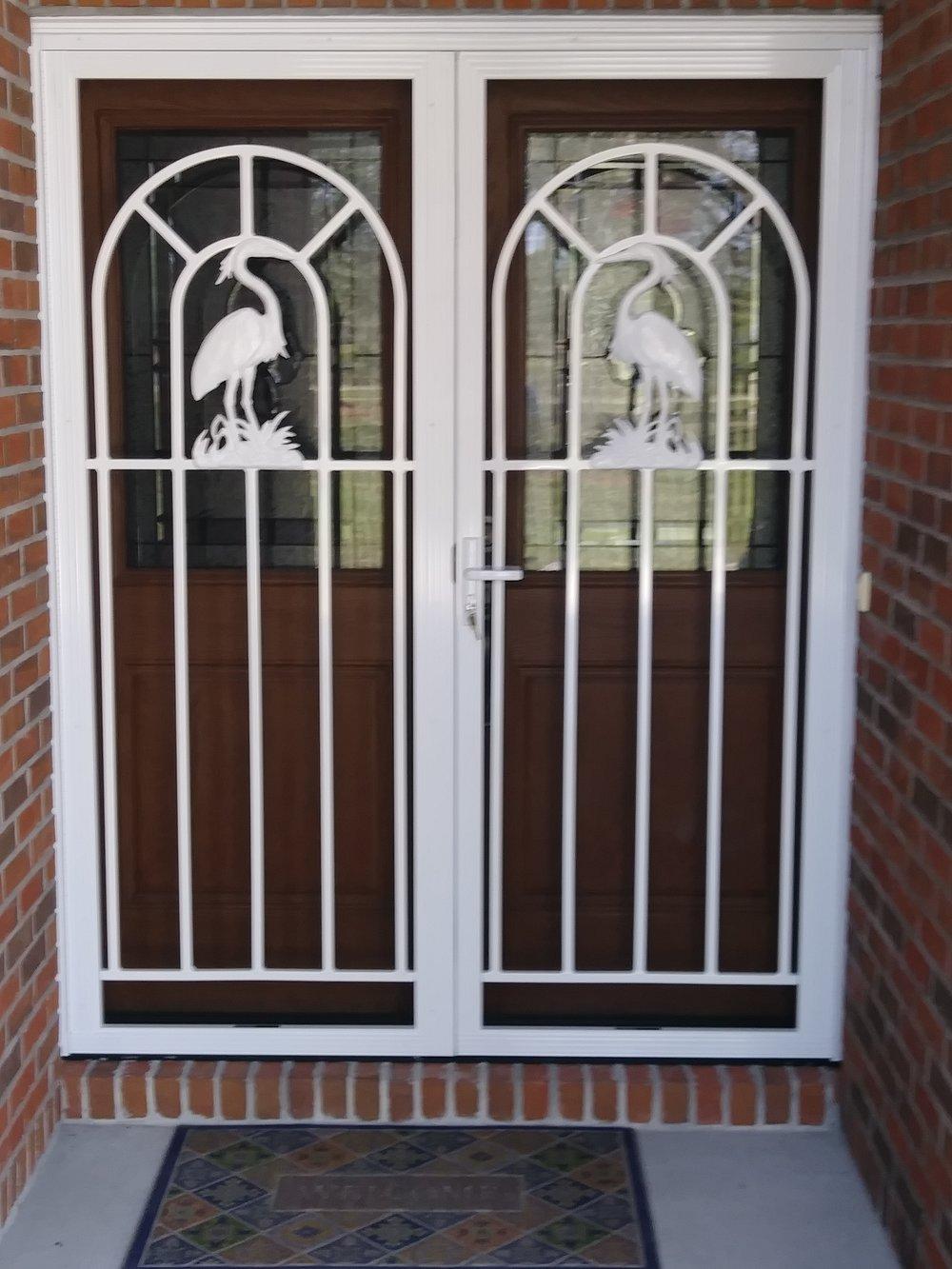 French Door Heron w/ Security Latch