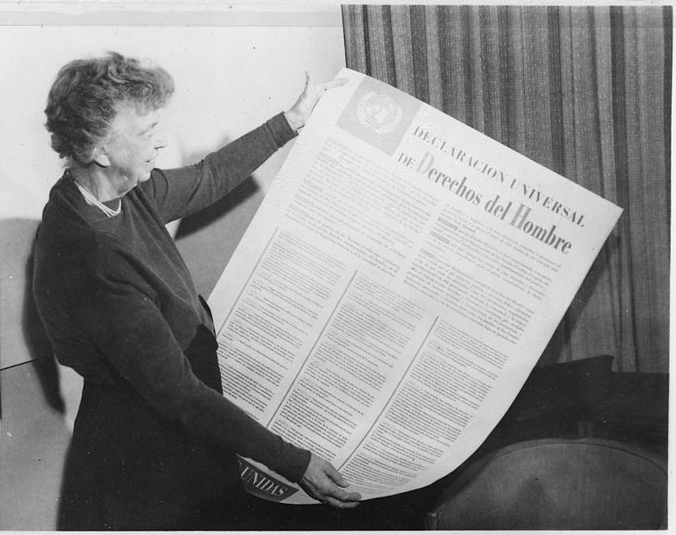 an analysis of elenor roosvelts speech for human rights The four freedoms franklin d roosevelt's address to congress january 6,  the first is freedom of speech and expression  freedom means the supremacy of human rights everywhere.