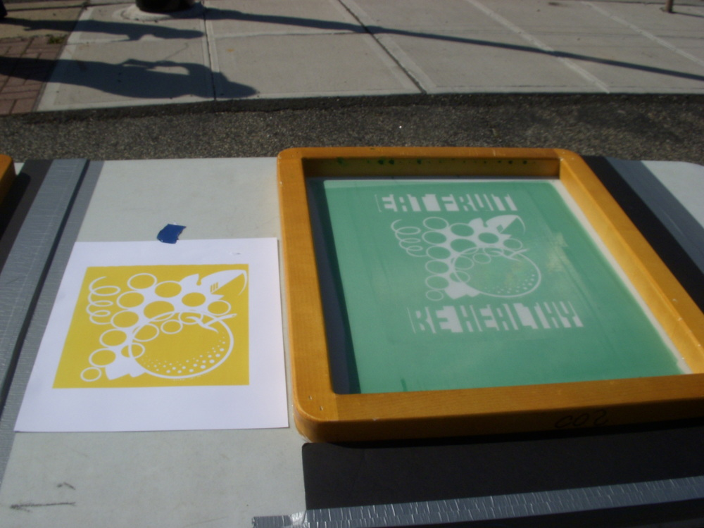 Scenes from a screen-printing workshop by Social Impact Studios.