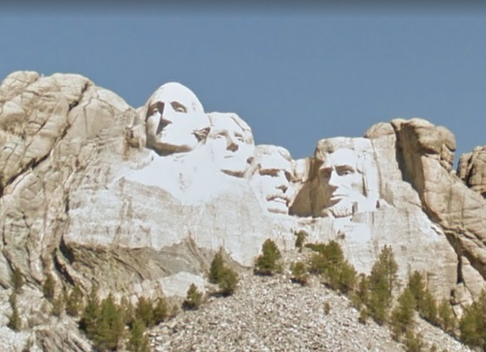 Mount Rushmore National Memorial, Courtesy Google Streetview