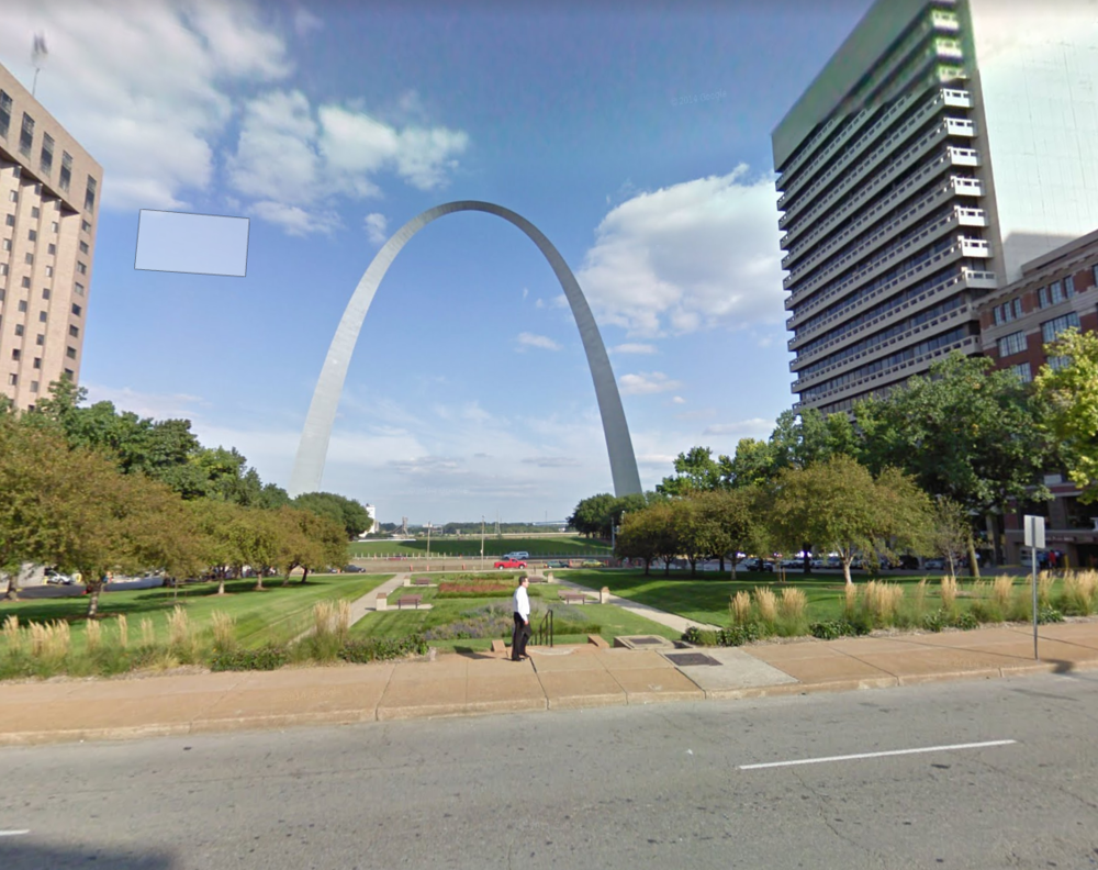 Gateway Arch, Courtesy Google Streetview