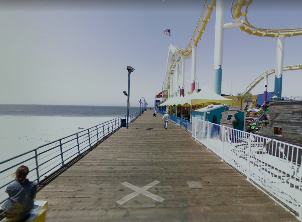 Santa Monica Pier, Courtesy Google Streetview