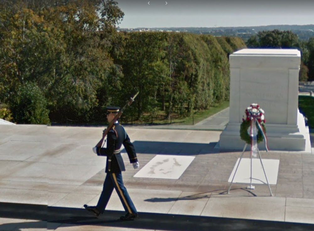 The Tomb of the Unknown Soldier, Courtesy Google Streetview
