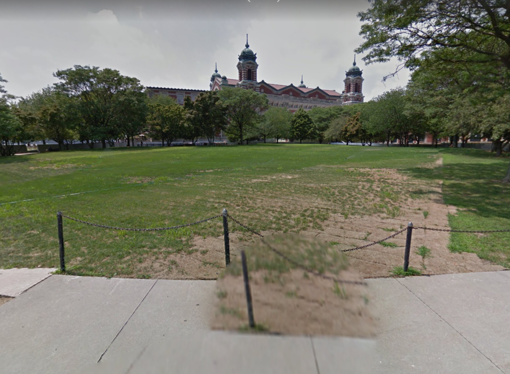Ellis Island, Courtesy Google Streetview