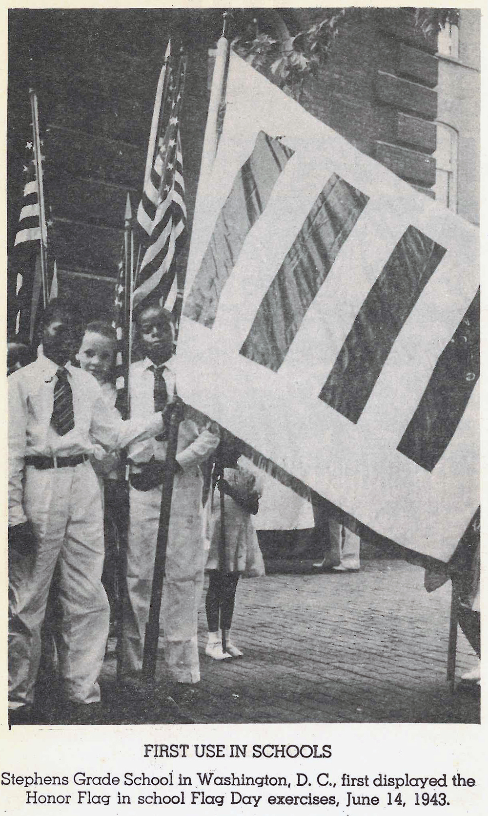 Children on flag day