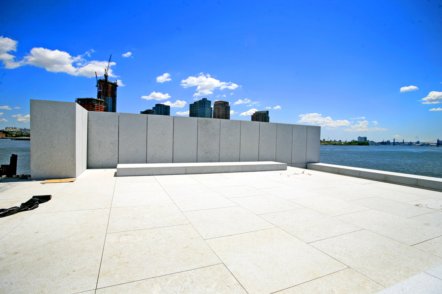 The columns in the 'Room' at Four Freedoms Park, 2011
