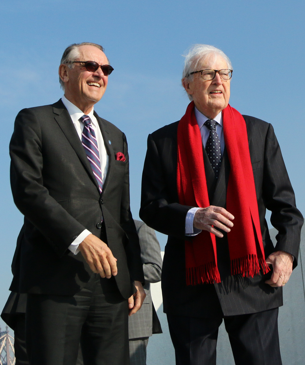 Jan Eliasson, UN Deputy Secretary-General & Ambassador William vanden Heuvel, Founder & Chair Emeritus of Four Freedoms Park