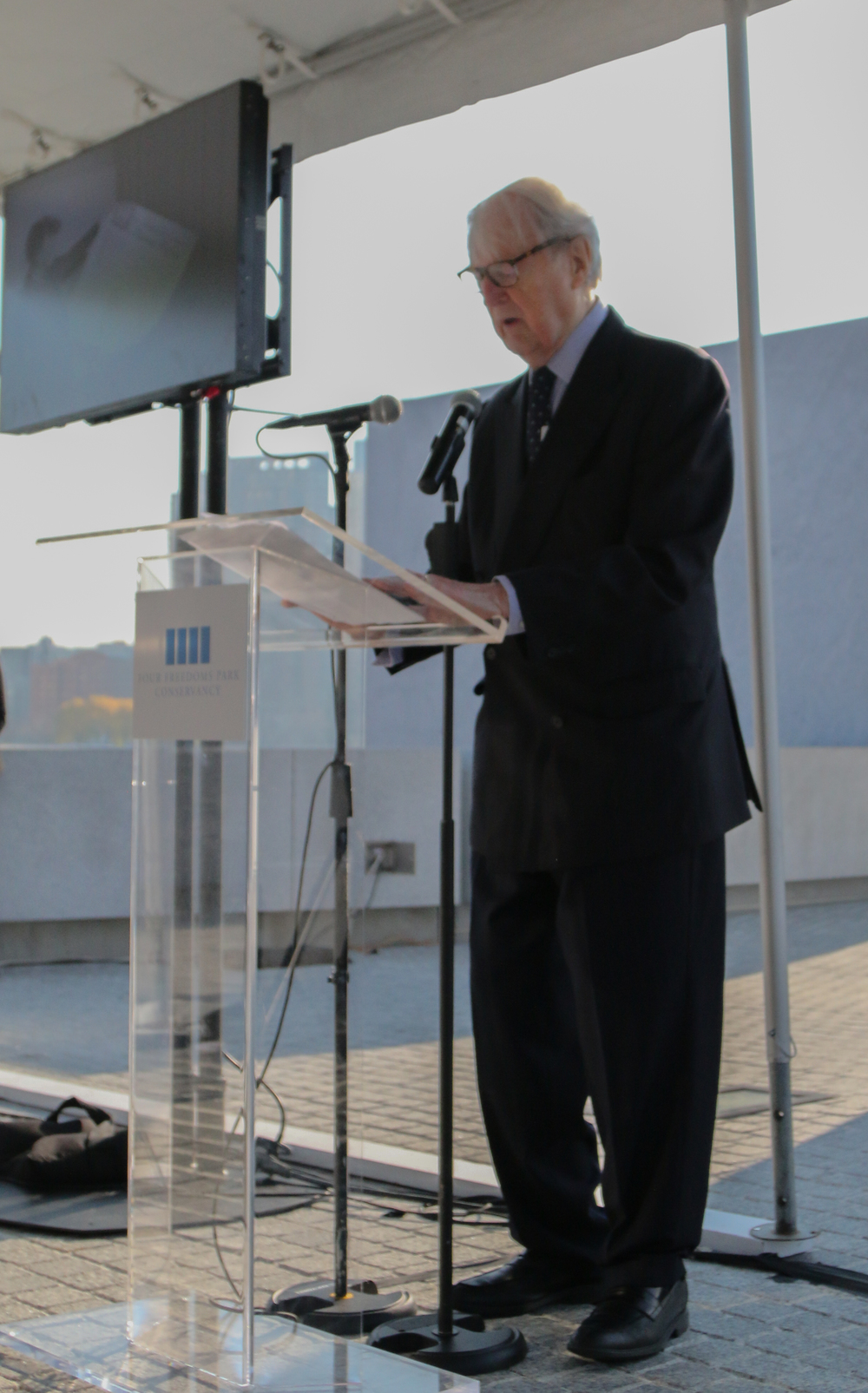 Ambassador William vanden Heuvel, Founder & Chair Emeritus of Four Freedoms Park
