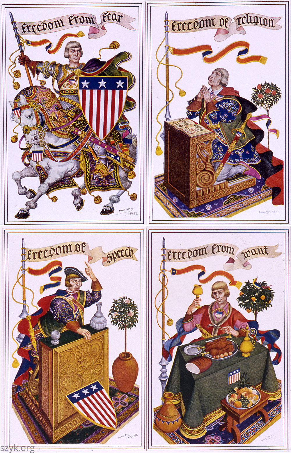 The Four Freedoms, Arthur Szyk