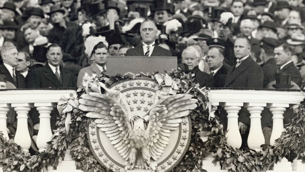 FDR's first inaugural speech, given on March 4, 1933.